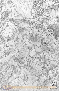 Justice League #14 (Tony S. Daniel Black & White Variant Cover)