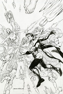 Action Comics #14 (Rags Morales Black & White Variant Cover)