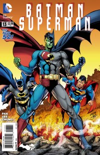 Batman Superman #13 (Dan Jurgens & Danny Miki Batman 75 Variant Cover)