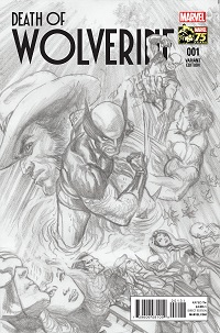 Death Of Wolverine #1 (Of 4)(Alex Ross 75th Anniversary Sketch Variant Cover)