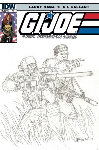 G.I. JOE A Real American Hero #204 (Cover RI Larry Hama)