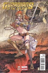 Guardians Of The Galaxy #5 (Milo Manara Angela Variant Cover)