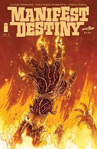 second printing of MANIFEST DESTINY #3