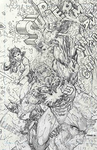 Superman Unchained #7 (Jim Lee Black & White Variant Cover)