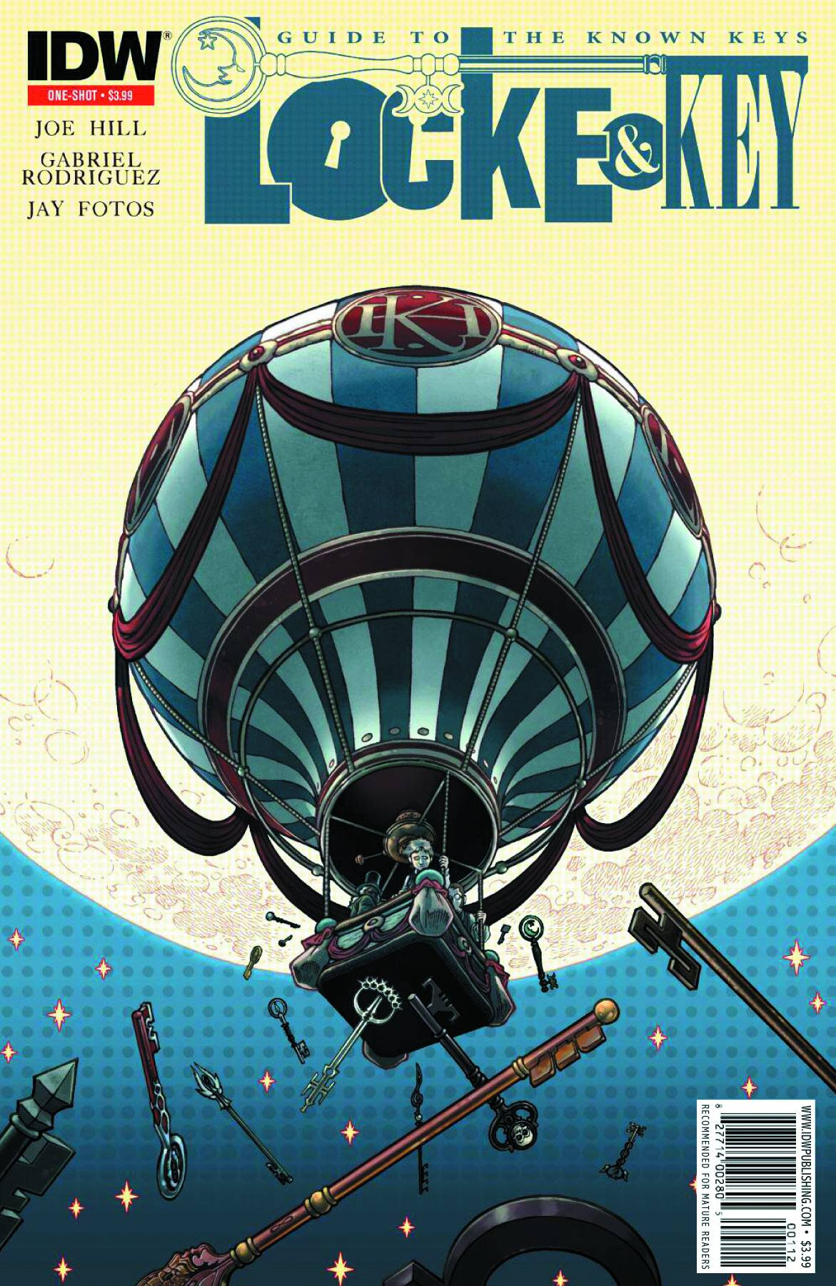 Locke And Key The Guide To The Known Keys (One Shot)(Gabriel Rodriguez 2nd Printing Variant Cover)