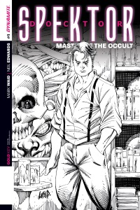 Doctor Spektor Master Of The Occult #1 (Rob Liefeld Black & White Reorder Variant Cover)