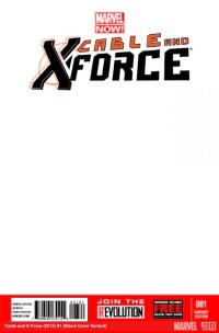 Cable And X-Force #1 (Blank Variant Cover)