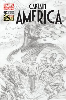 Captain America #22 (Alex Ross 75th Anniversary Sketch Variant Cover)
