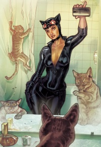 Catwoman #34 (Stephane Roux DC Universe Selfie Variant Cover)