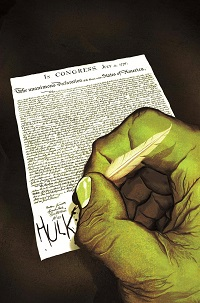 Indestructible Hulk #11 (Michael Del Mundo Time Travel Variant Cover)