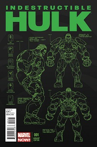 Indestructible Hulk #1 (Leinil Francis Yu Design Variant Cover)