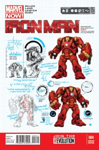 Iron Man #4 (Carlo Pagulayan Design Variant Cover)