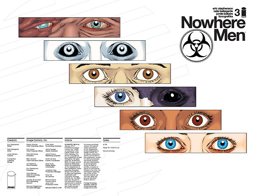 Nowhere Men #3 (2nd Printing Variant Cover)