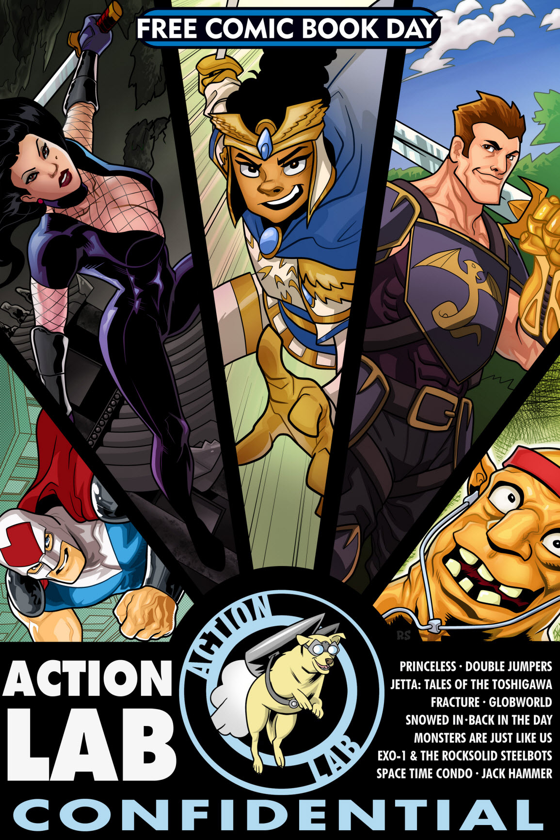 action lab offers 200 page free comic book day digital download
