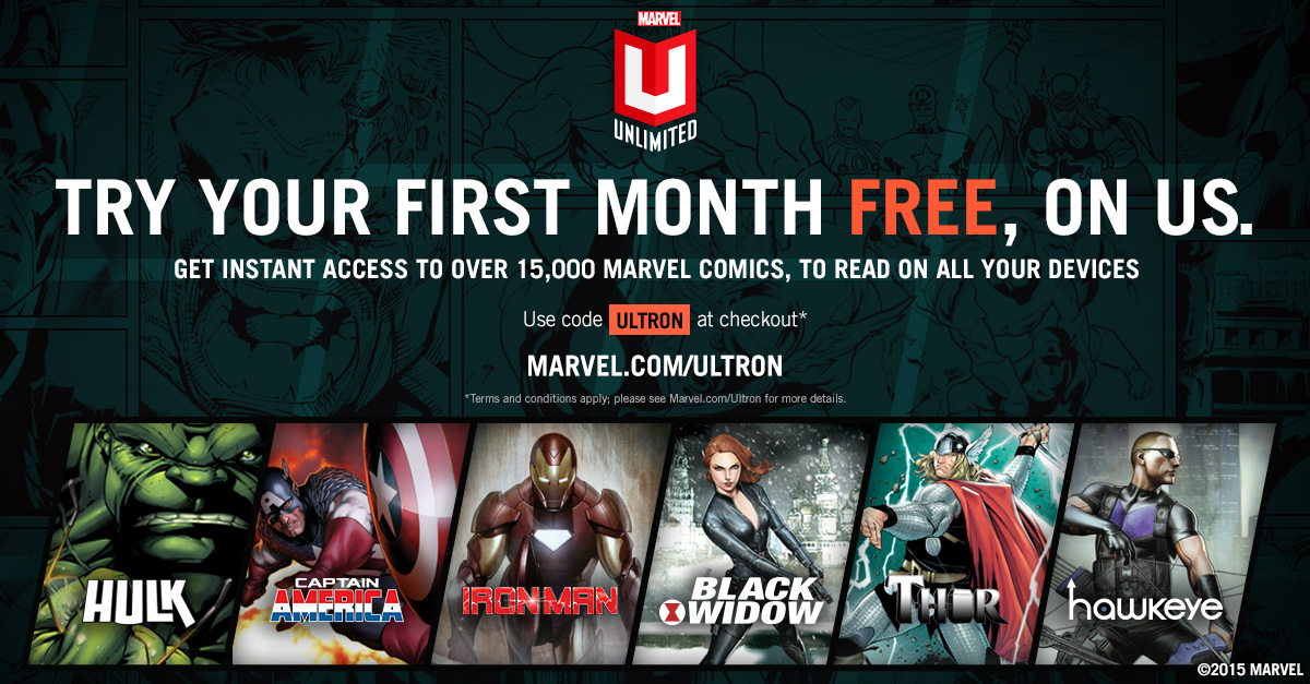 Browse for Marvel Unlimited coupons valid through December below. Find the latest Marvel Unlimited coupon codes, online promotional codes, and the overall best coupons posted by our team of experts.