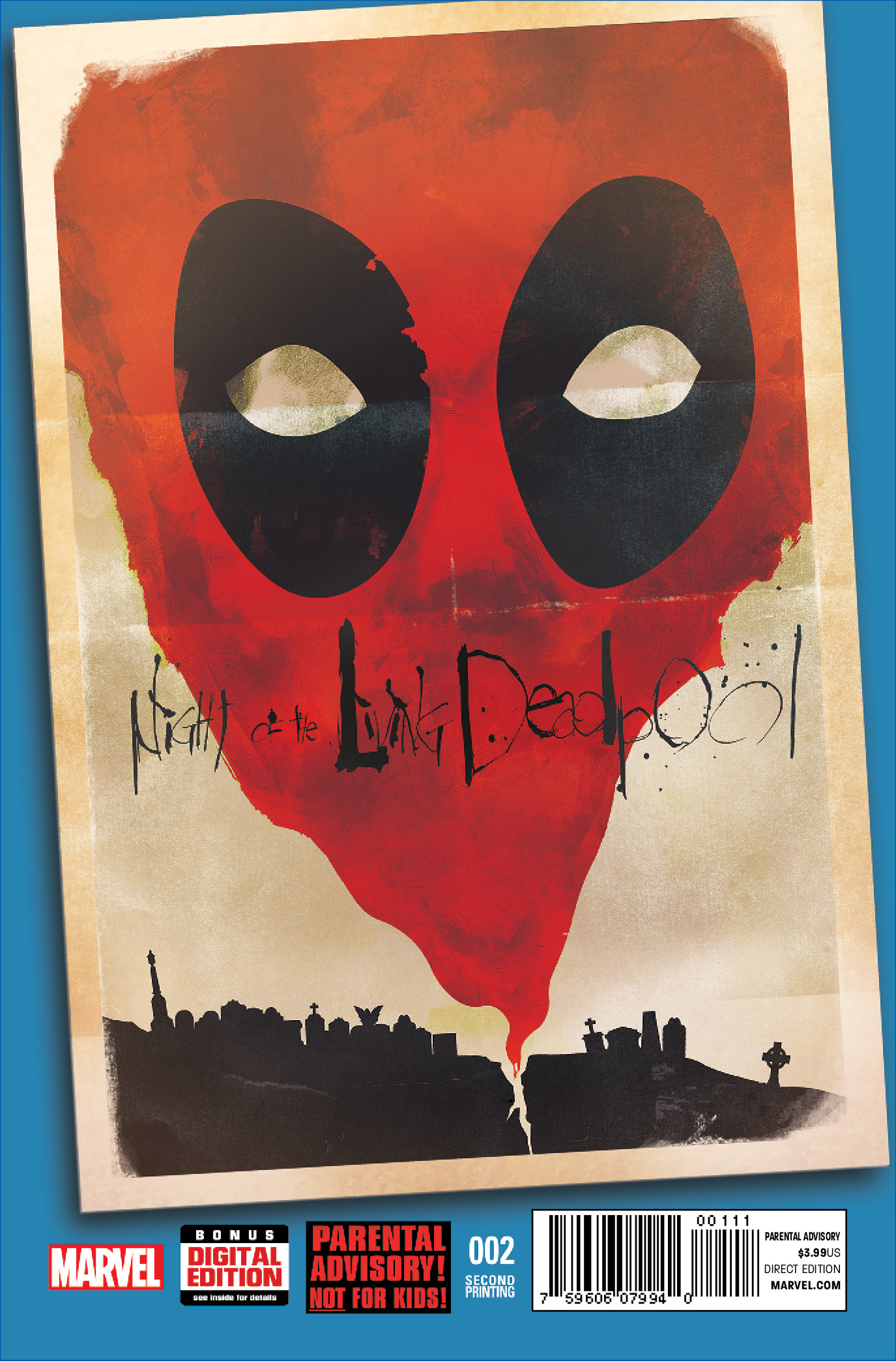NIGHT OF THE LIVING DEADPOOL #2 2ND PRINTING VARIANT