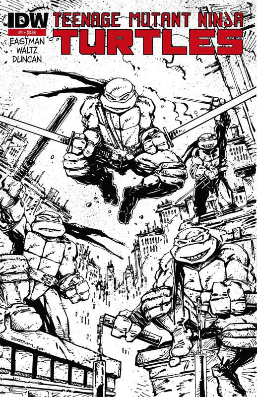 Teenage Mutant Ninja Turtles #1 (Kevin Eastman 2nd Printing Variant Cover)