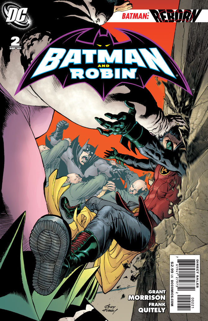 dc reveals andy kubert batman and robin  2 cover