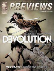 Preview the November 2015 PREVIEWS Catalog