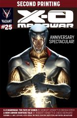 X-O MANOWAR #25 (SECOND PRINTING VARIANT)