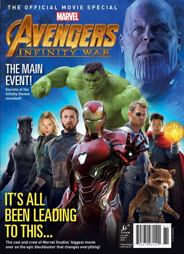 Avengers Infinity War Newstand Cover Titan announces an all-access guide to Marvel Studios' AVENGERS: INFINITY WAR