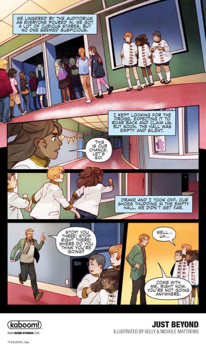First Look At Boom Studios Just Beyond The Scare School Gn
