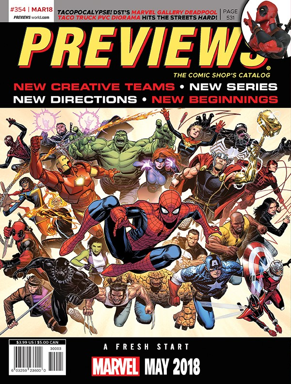 March 2018 Back Cover Preview the March 2018 PREVIEWS Catalog