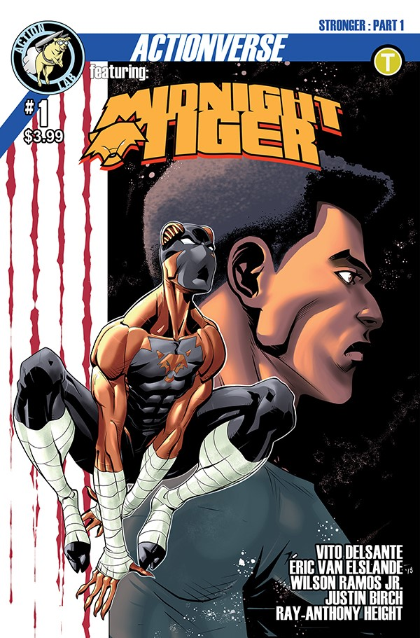 Midnight Tiger Stronger 1 Cover B First Look at Action Lab Entertainment's MIDNIGHT TIGER STRONGER #1