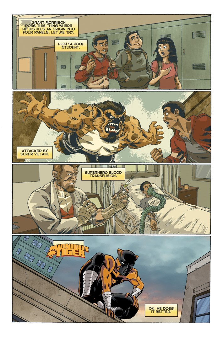 Midnight Tiger Stronger 1 Page 1 First Look at Action Lab Entertainment's MIDNIGHT TIGER STRONGER #1