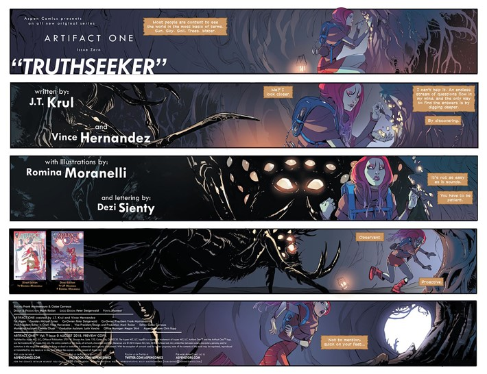 Artifact One Page 1 ComicList Previews: ARTIFACT ONE #0