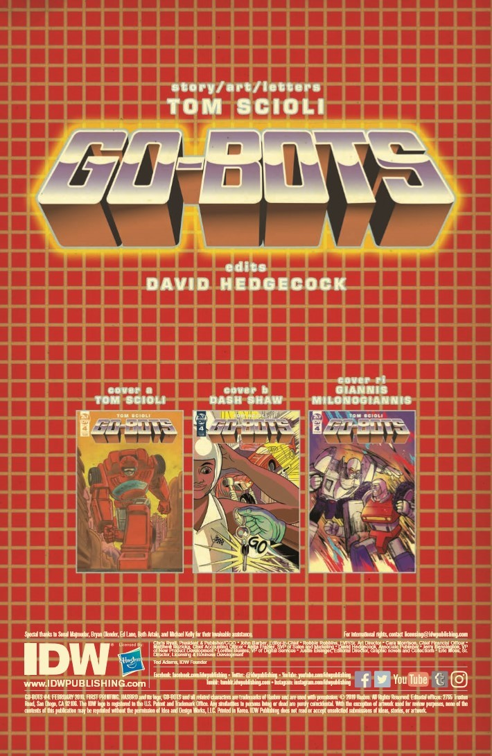 ComicList Previews: GO-BOTS #4