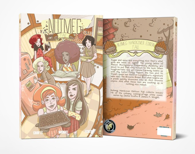 Nutmeg Hardcover Edition Fall Cover and Back Cover ComicList Previews: NUTMEG FALL EDITION HC