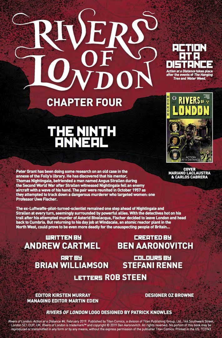 Rivers of London Action At A Distance 4 Credits ComicList Previews: RIVERS OF LONDON ACTION AT A DISTANCE #4