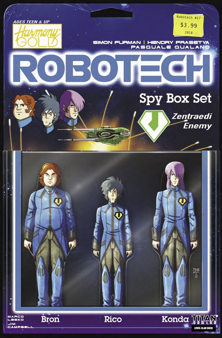Robotech 17 Cover B ComicList Previews: ROBOTECH #17