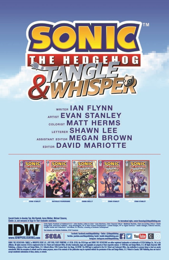 Comiclist Previews Sonic The Hedgehog Tangle And Whisper 1